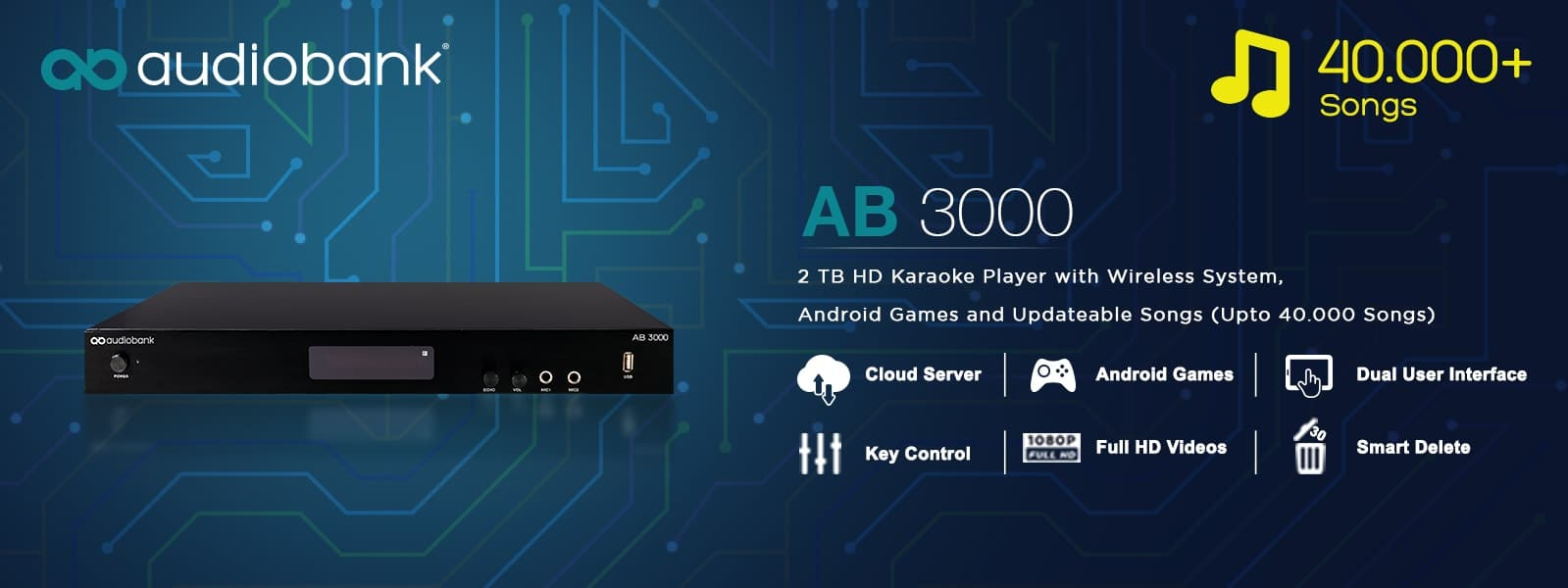 Bless Audio - Audiobank  AB 3000 + Hdd 2 Tb(39.000 lagu)Full Hd 1080 P - Blanja.com