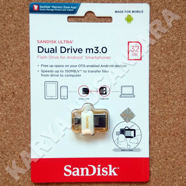 Jual 32gb Sandisk Ultra Dual Drive M30 Otg Flash Karya Disk Flashdisk 32 Gb Nusantara Tokopedia