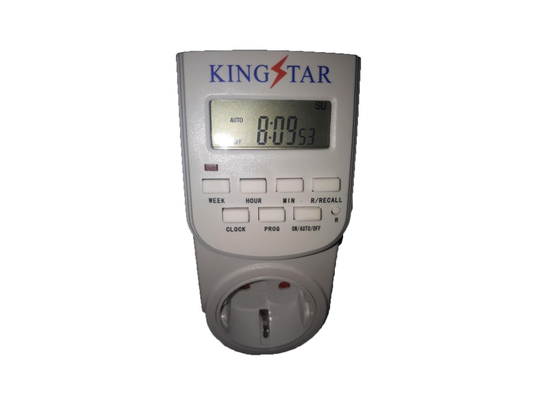 Timer Digital Stop Kontak Hidroponik Kingstar
