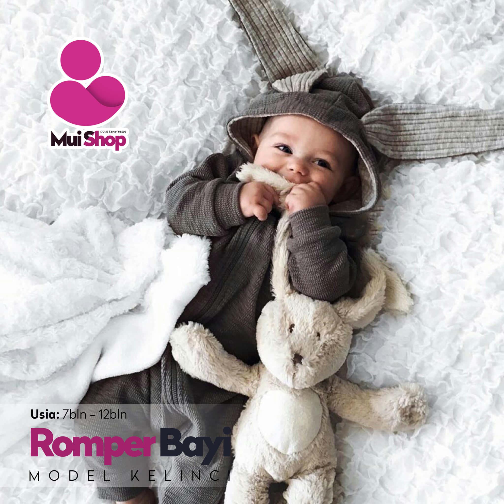 Jual Jumper Lucu Hangat Bayi Perempuan & Laki Laki Model Kelinci Mui Shop