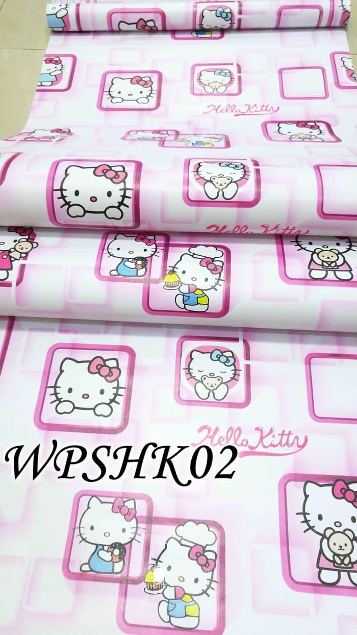 Jual Wallpaper Stiker Hello Kitty Walpaper Wall Paper Sticker Dinding Motif Batu Bata