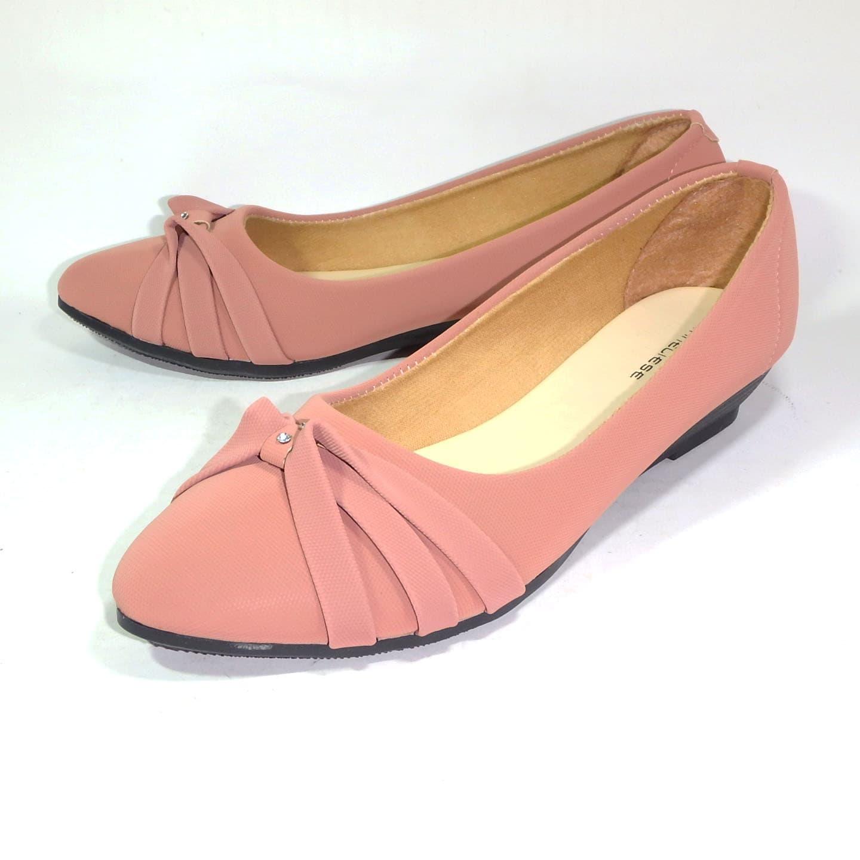 Jual flat shoes sepatu balet wanita kinanti terbaru anneliese - Merah Muda ae7d816c92