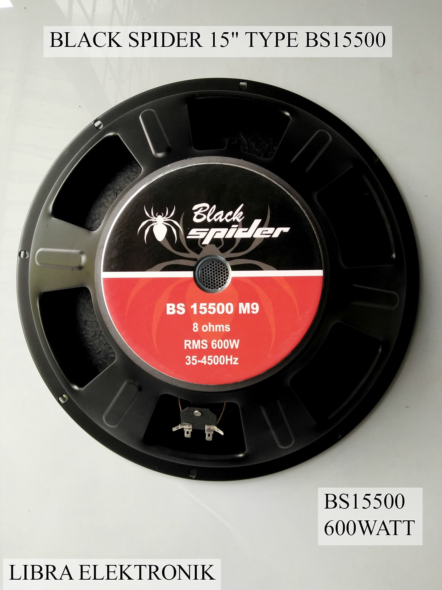 harga Speaker Black Spider 15'inc Type 15500 Magnet Besar 600 Watt Blanja.com