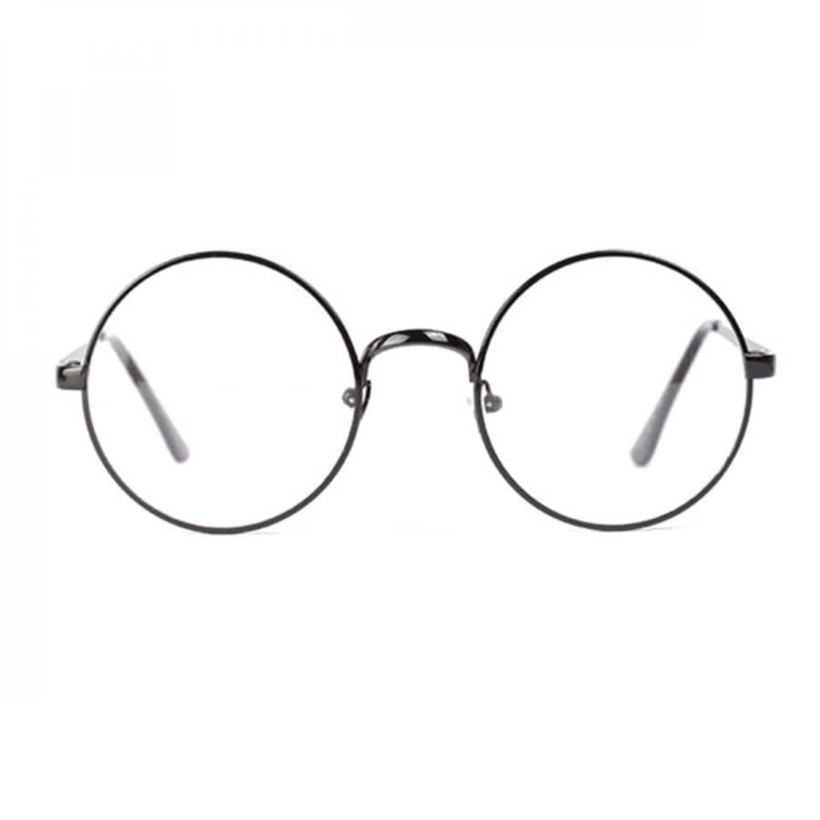 Jual Kacamata Bulat Dewasa Big Lennon Korea Exo 8926 Transparant Hitam
