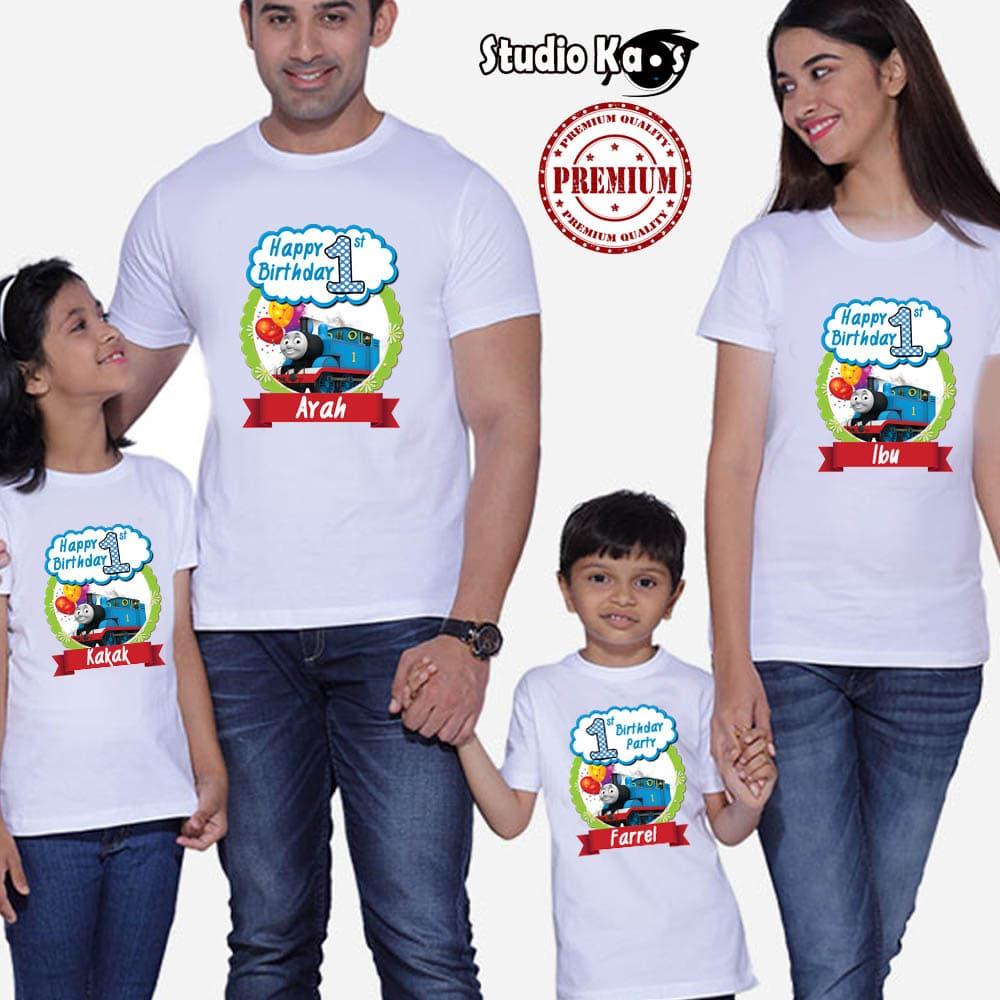 harga Kaos Keluarga Ulang Tahun - Ultah / Baju Family (2 Anak Dan 2 Dewasa) Blanja.com