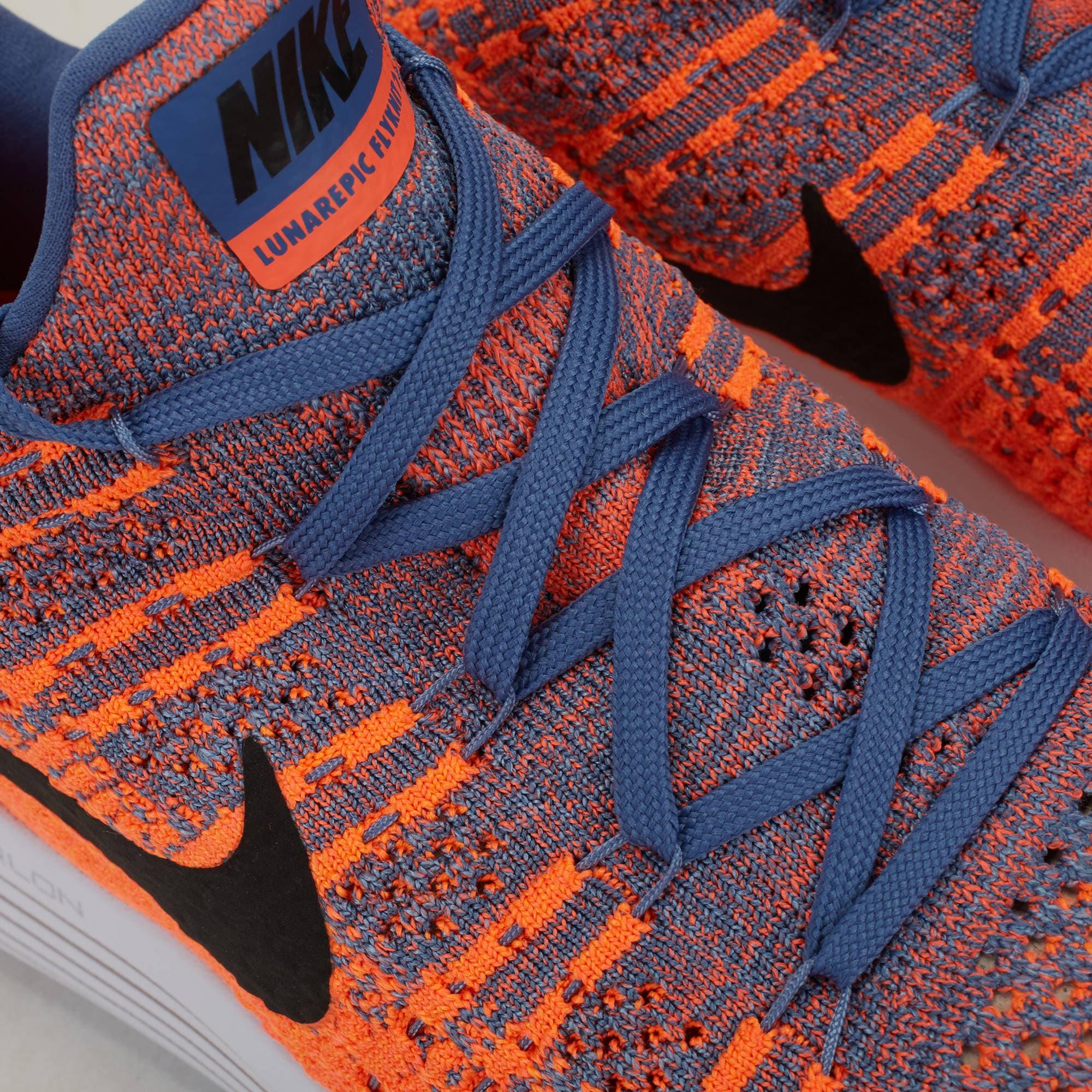 ... Nike Lunarepic Low Flyknit 2 Paramount Blue Black Max Orange -  Blanja.com 205ac8657a