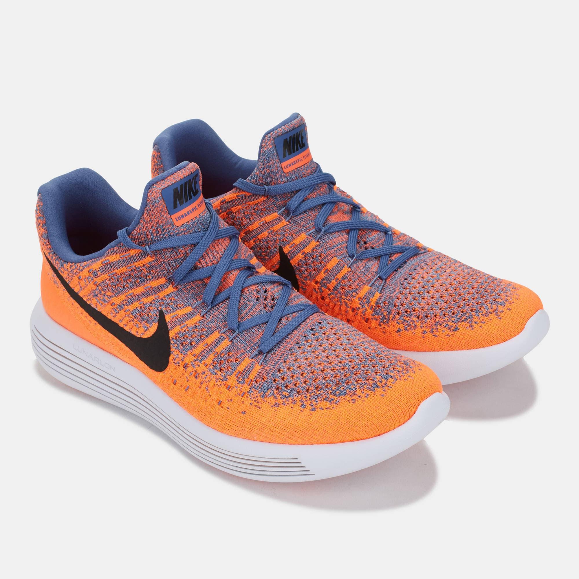 Jual Nike Lunarepic Low Flyknit 2 Paramount Blue Black Max Orange ... d1ef8dc177