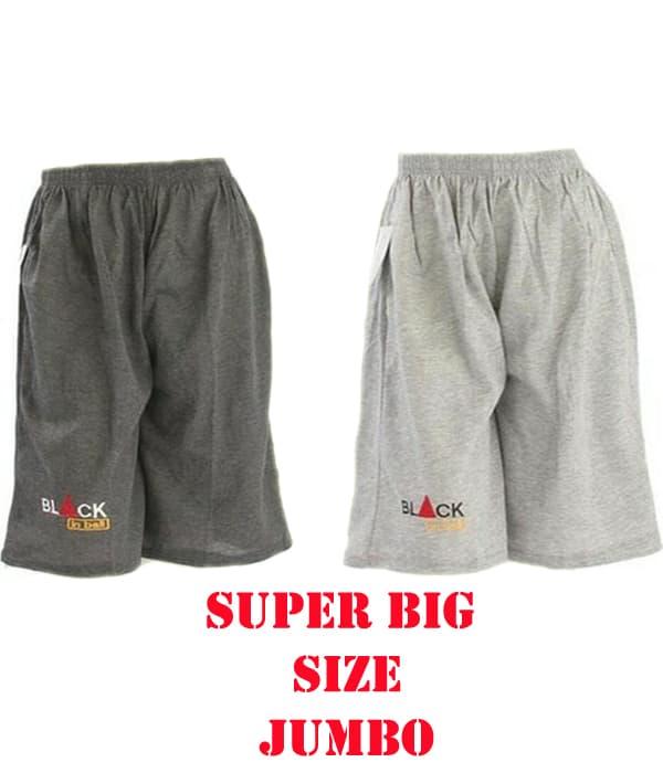 Jual Celana Pendek Santai Polos Kaos Super Big Size Jumbo  4e3ebf65e9