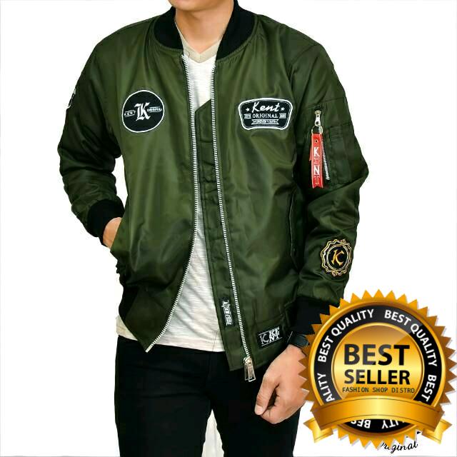 806b514311b Jual Promo!!! Jaket Bomber Hijau Army Original Full Patch Bordir ...
