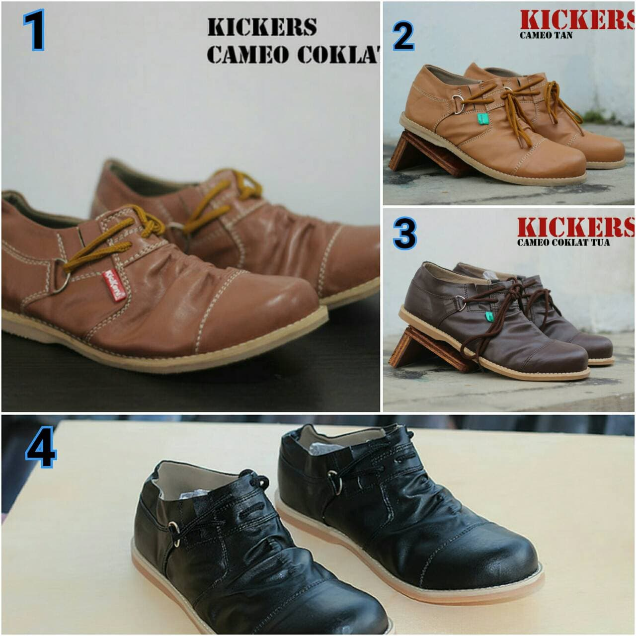 Jual Sepatu Casual Pria Slip on Kickers Wringkle Cameo Termurah - Cokelat  Tua 2ae62bc7e6