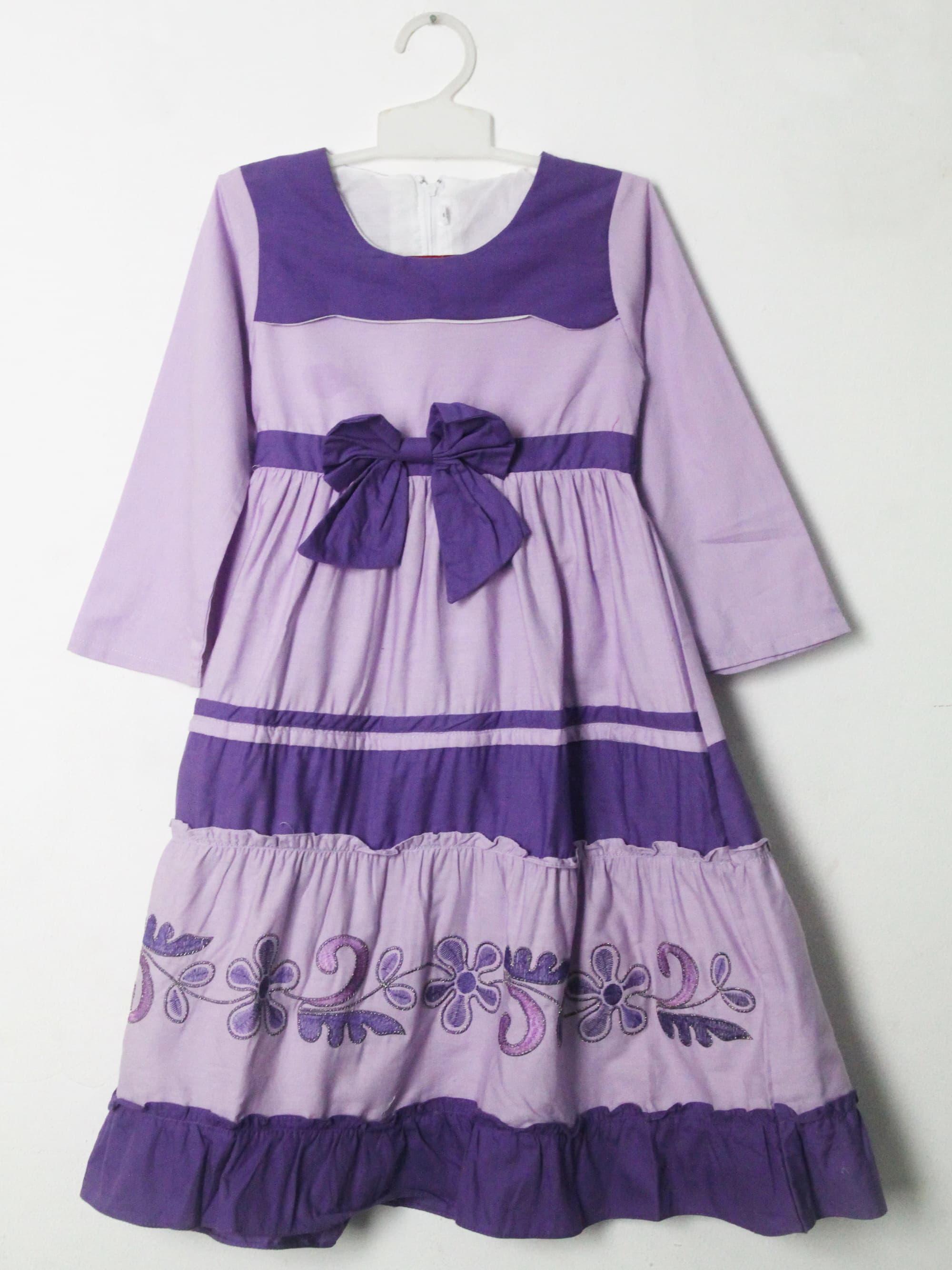 Baju Gamis Anak Perempuan 2111 Ungu