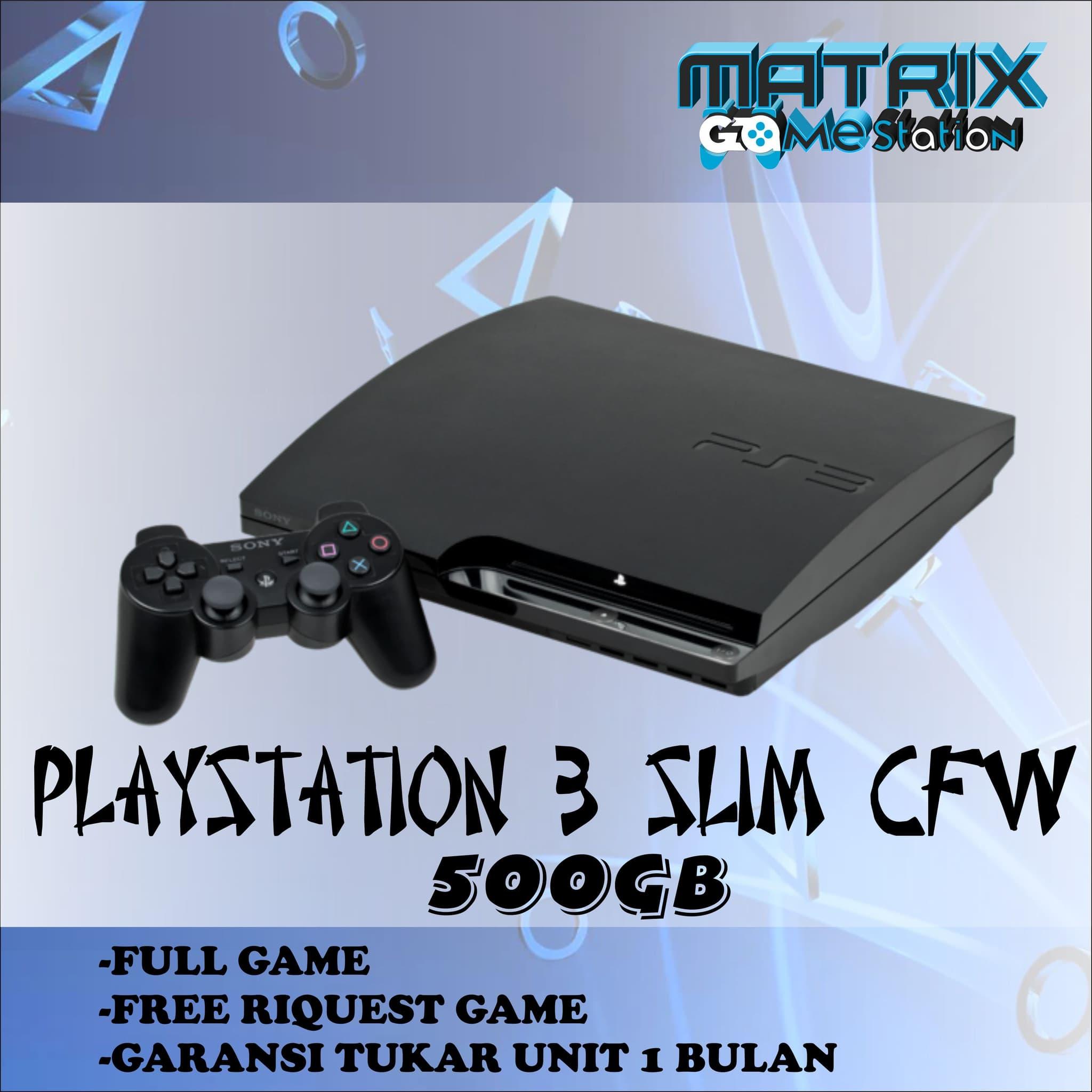 Playstation 3 Slim Sony Ps3 Slim 500gb Cfw 1 Stick Promo