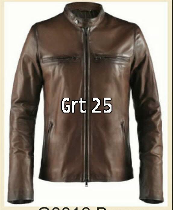 Jual jaket kulit asli jaket kulit Garut model pria - Navy a012b1fa08