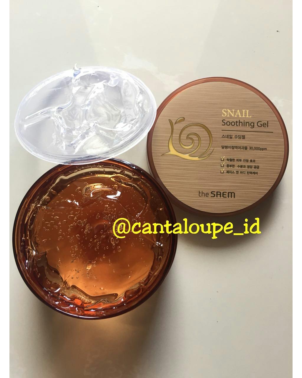 Jual Snail Soothing Gel The Saem Cantaloupe Indonesia Tokopedia