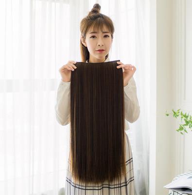 hairclip lurus panjang murah - Cokelat thumbnail