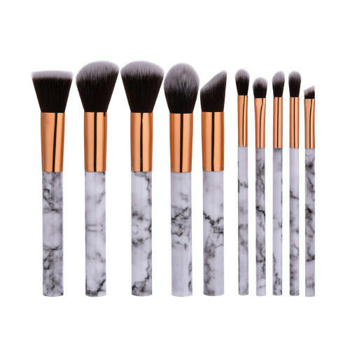 harga Kuas Makeup Set 10pcs Marble- Profesional Make Up Brush Marmer 10 Pc Blanja.com