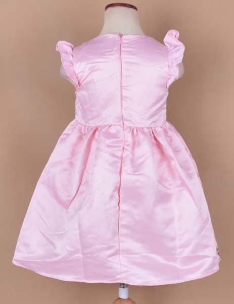 Jual Dress Sofia Warna Pink Gaun Pesta Anak Perempuan Bahan Satin