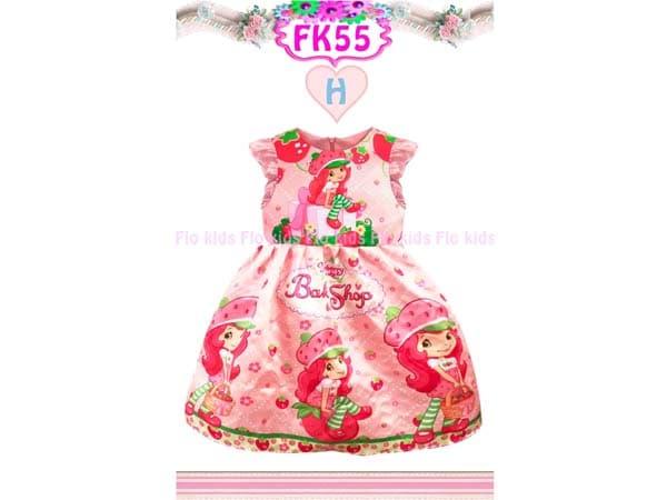 Dress Sofia Warna Pink Gaun Pesta Anak Perempuan Bahan Satin Impor - Blanja.com