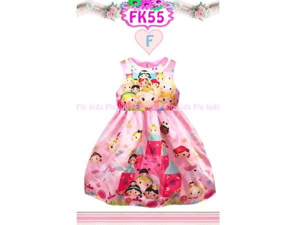 Dress Anak Tsum Tsum Warna Pink Gaun Pesta Anak Perempuan Bahan Satin - Blanja.com