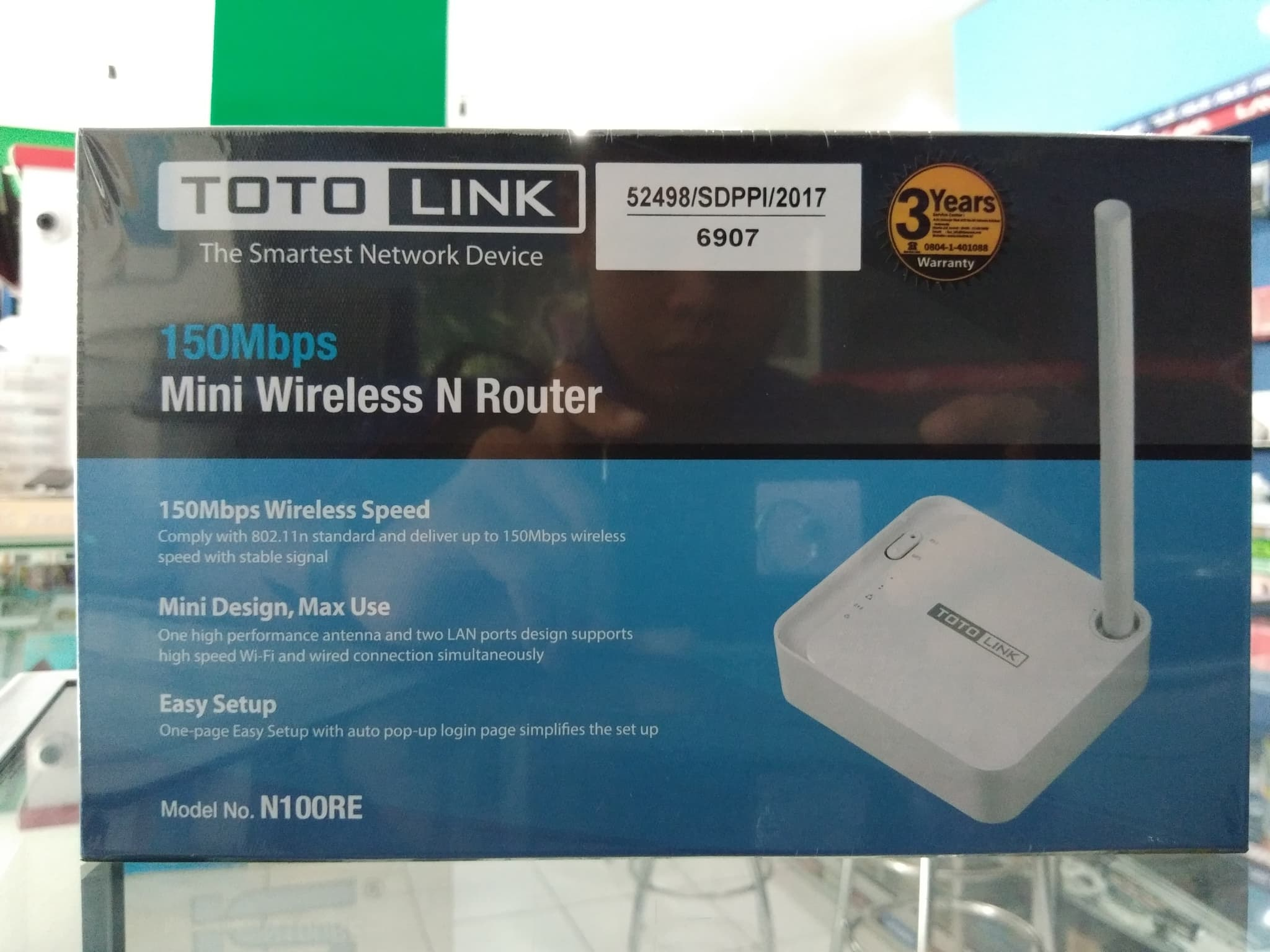 Jual Toto Link Mini Wireless N Router N100re Rapikom Tokopedia Totolink 150mbps