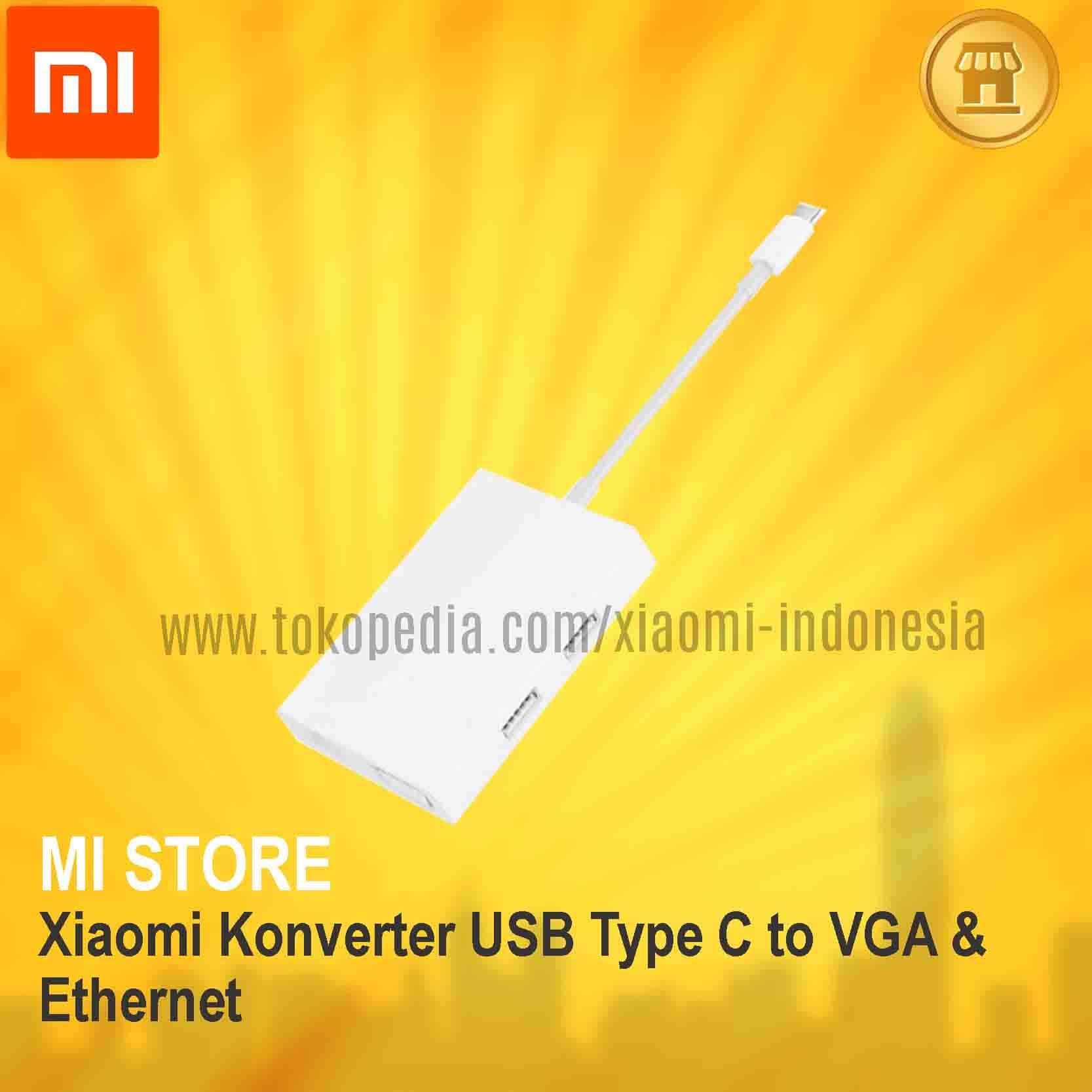 Xiaomi Konverter USB Type C to VGA & Ethernet