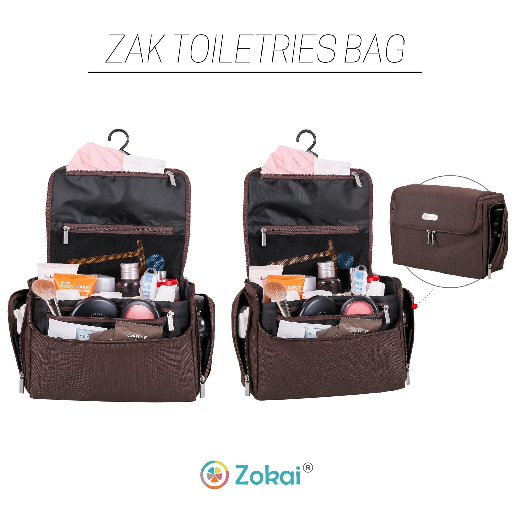Jual Zak Toiletries Bag Drenbellony Travel Tas Pria Wanita Etnik By Suhendar Perlengkapan Mandi Anti Air Brown