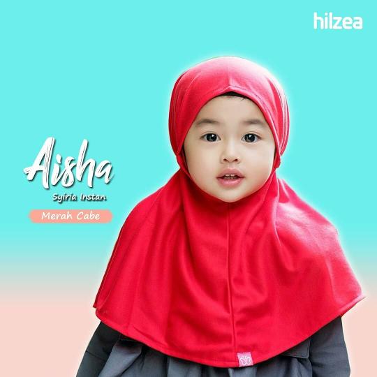 Syiria Instan Polos Jilbab Anak Hijab Anak Merah Cabe