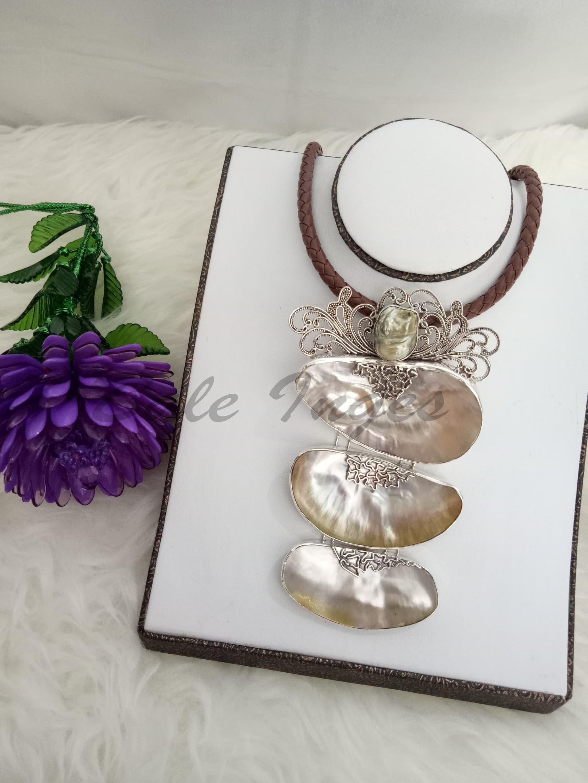 harga [produk Ukm Bumn] - Kalung Bros Silver Handmade Kulit Kerang Mutiara Dan Baroque Laut[106] Blanja.com