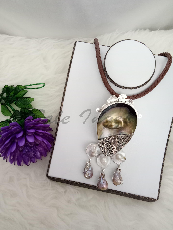 Jual Produk Ukm Bumn Kalung Bros Silver Handmade Kulit Kerang Dompet Make Up Wanita Keren Mutiara Dan Baroque Tawar98
