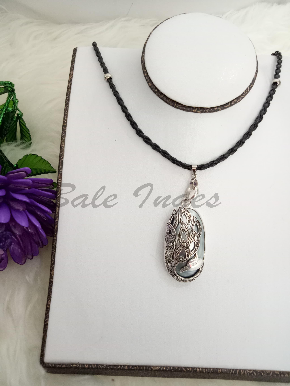 Jual Produk Ukm Bumn Kalung Silver Handmade Motif Angsa Kulit Jaket Batik Kerang Mutiara Air Laut111