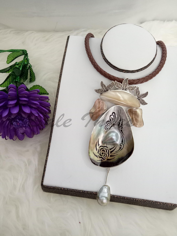 Jual Produk Ukm Bumn Kalung Bros Silver Handmade Kulit Kerang Jaket Batik Mutiara Dan Baroque Laut110