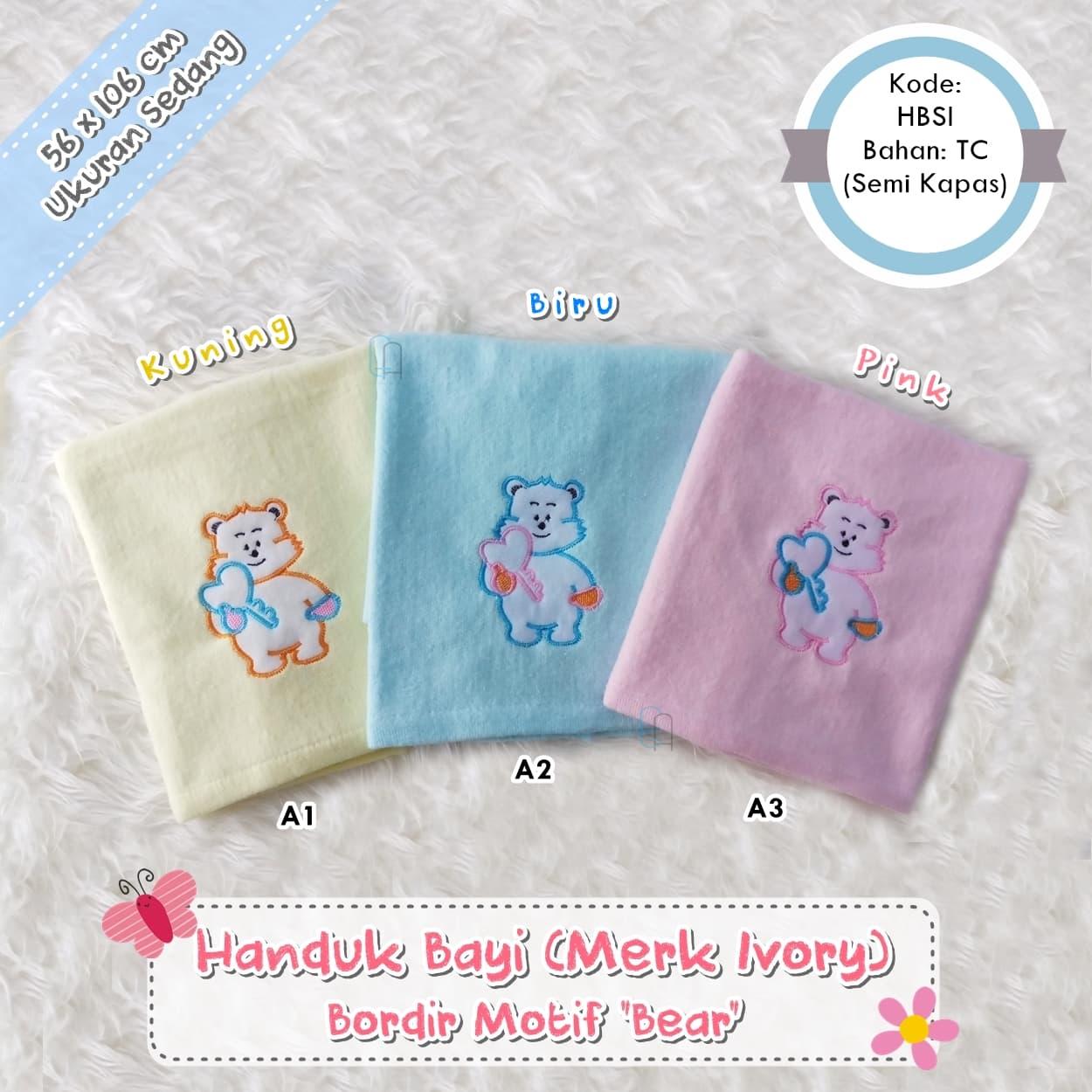 Jual Set 3pcs Setelan Baju Bayi Newborn Celana Panjang Polos Warna Tanpa Tempat Diapers Handuk Bordir Ivory Rp 22000 3 Pcs
