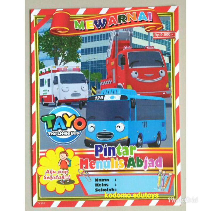 Jual Buku Mewarnai Anak Karakter Tayo The Little Bus Buku Aktifitas