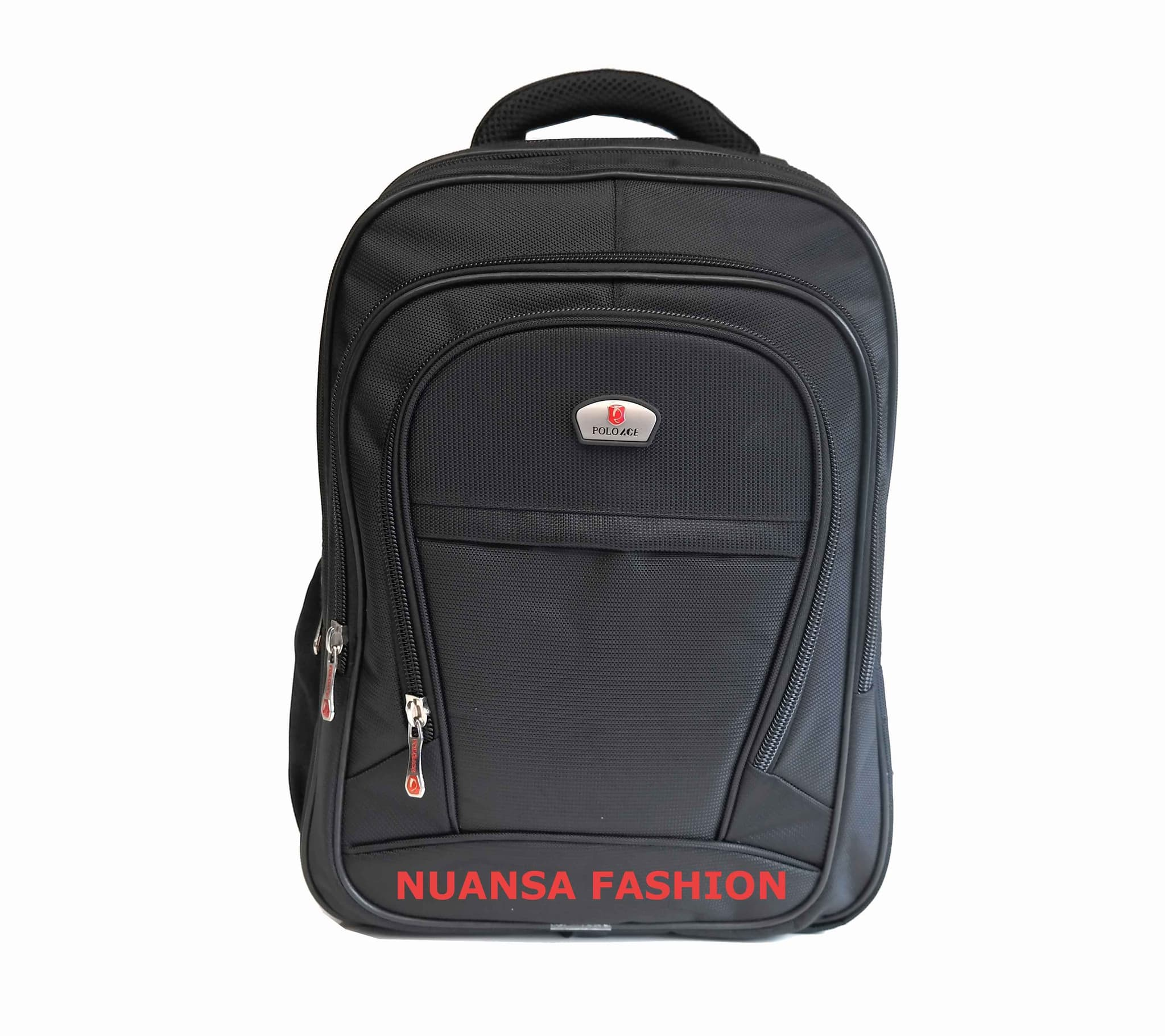 Backpack Tas Ransel Laptop Polo Ace 9030 Ori Free Rain Cover - Hitam - Blanja.