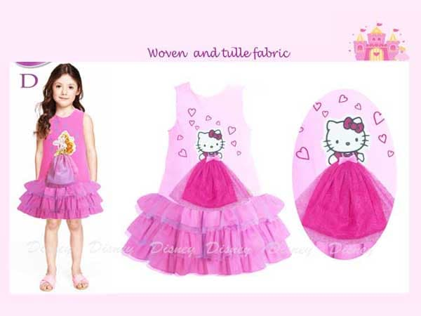 Dress Hello Kitty Bayi Warna Soft Pink Gaun Anak Perempuan Impor - Blanja.com
