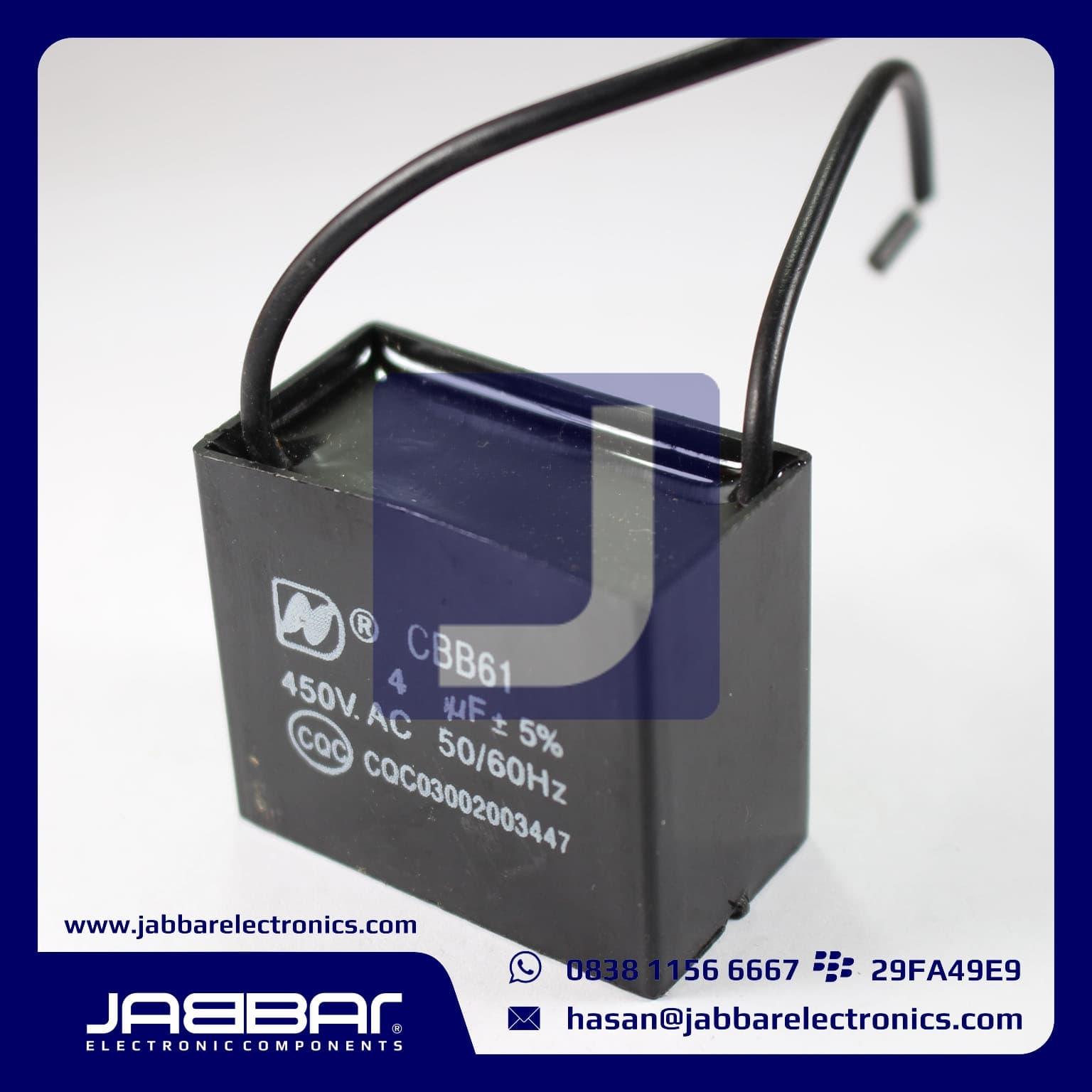 Jual Kapasitor Cbb61 50 60hz Jabar Elektronika Tokopedia Capasitor Kotak 25uf Kabel