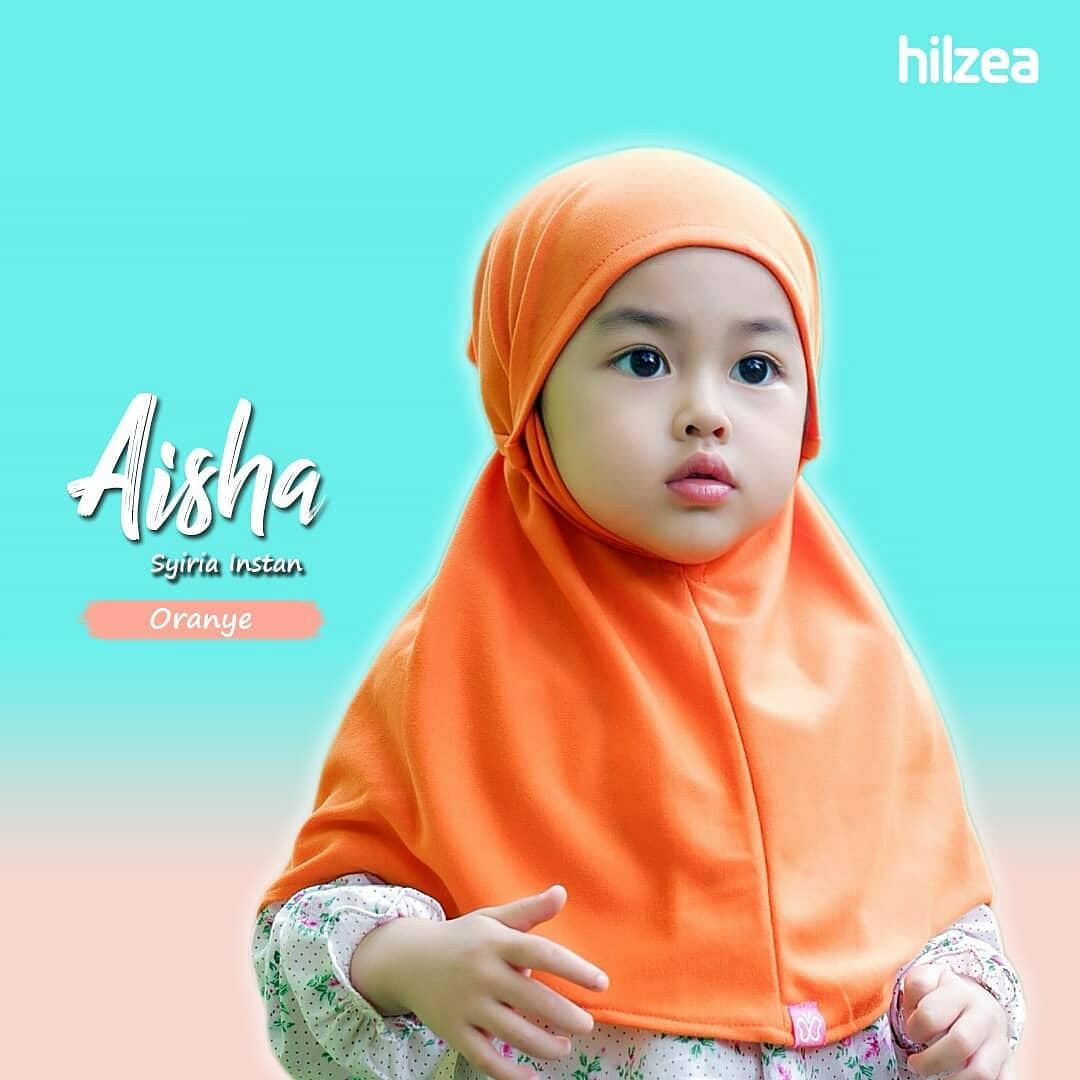 Syiria Instan Polos Jilbab Anak Hijab Anak Oranye