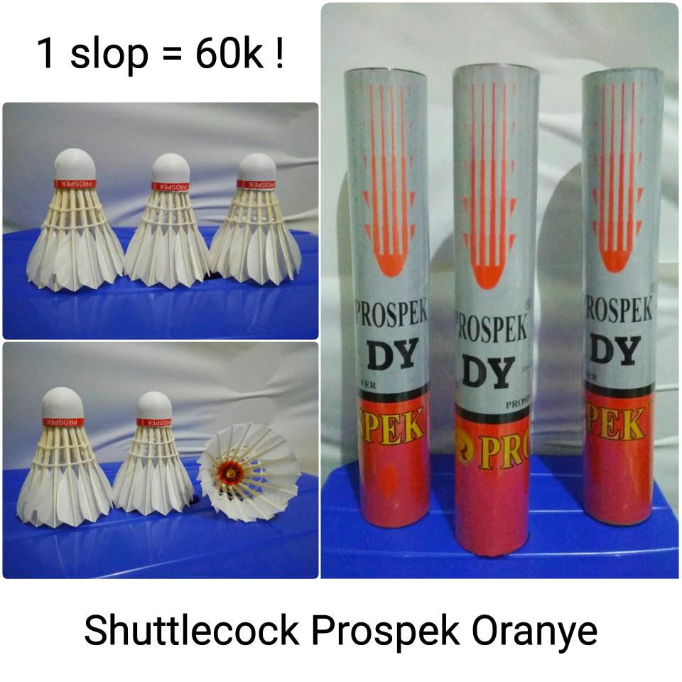 Jual Shuttlecock Prospek Oranye Kok Bulutangkis Murah Raket Badminton Oomph Store Tokopedia