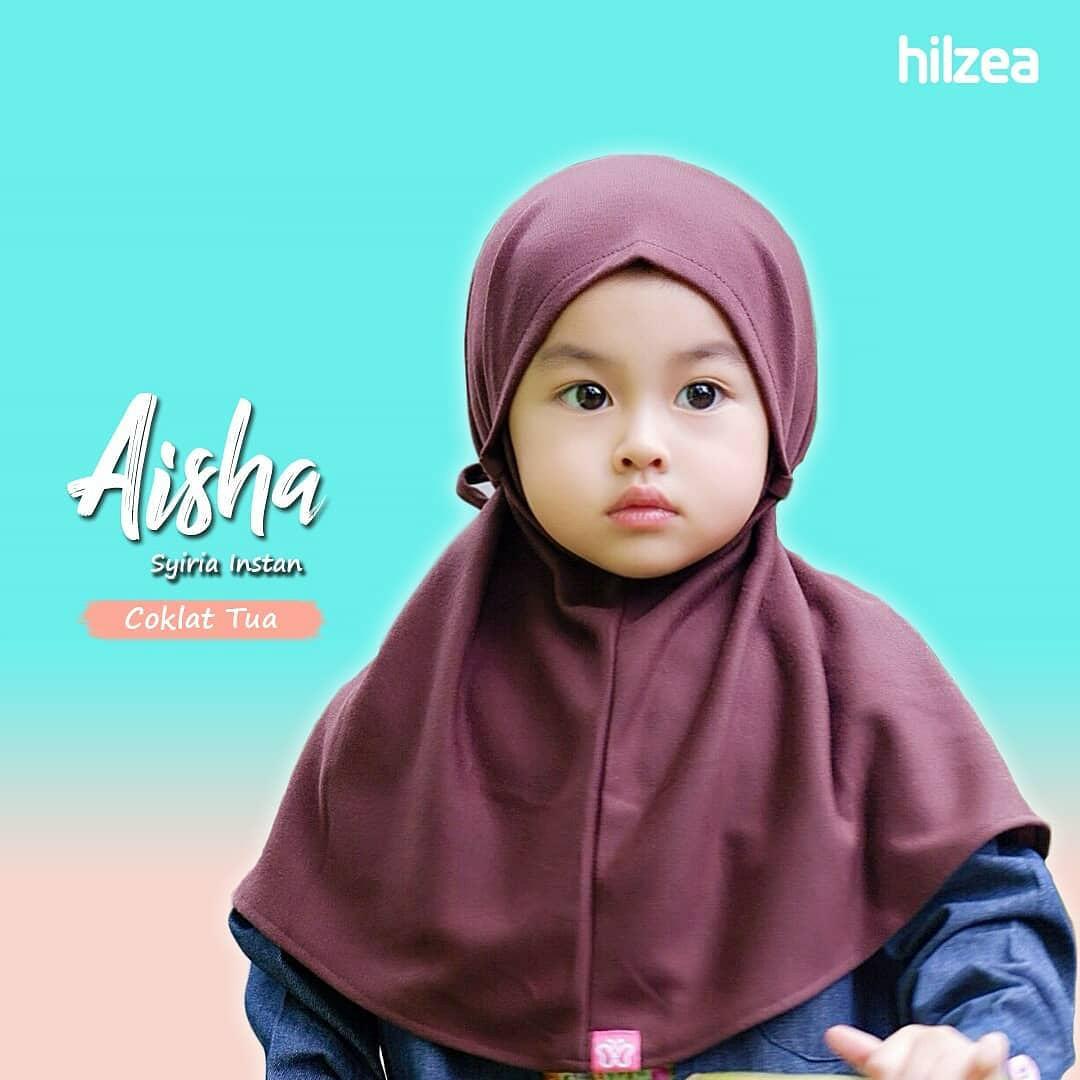 Syiria Instan Polos Jilbab Anak Jilbab Bayi Hijab Anak Coklat Tua