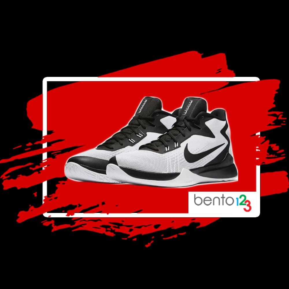 Sepatu Basket Nike Zoom Evidence White Black - White Original - Putih, 42