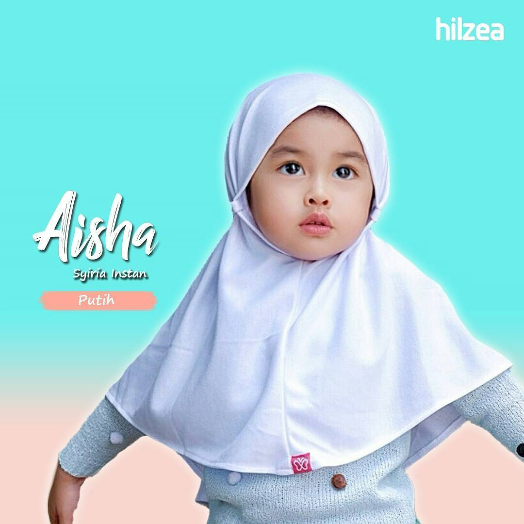 Syiria Instan Polos Jilbab Anak Jilbab Bayi Hijab Anak Putih