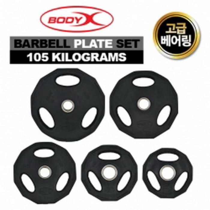 Barbell Plate Set 105kg Bodyx (Plate Only) - Blanja.com