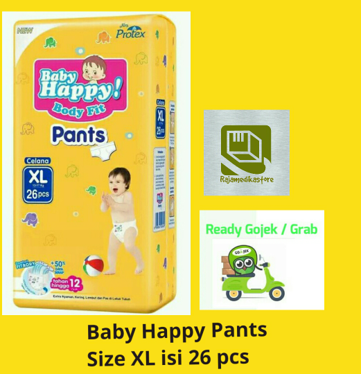 Jual Diapers Baby Happy size XL - Baby happy Pants - Baby happy size XL -
