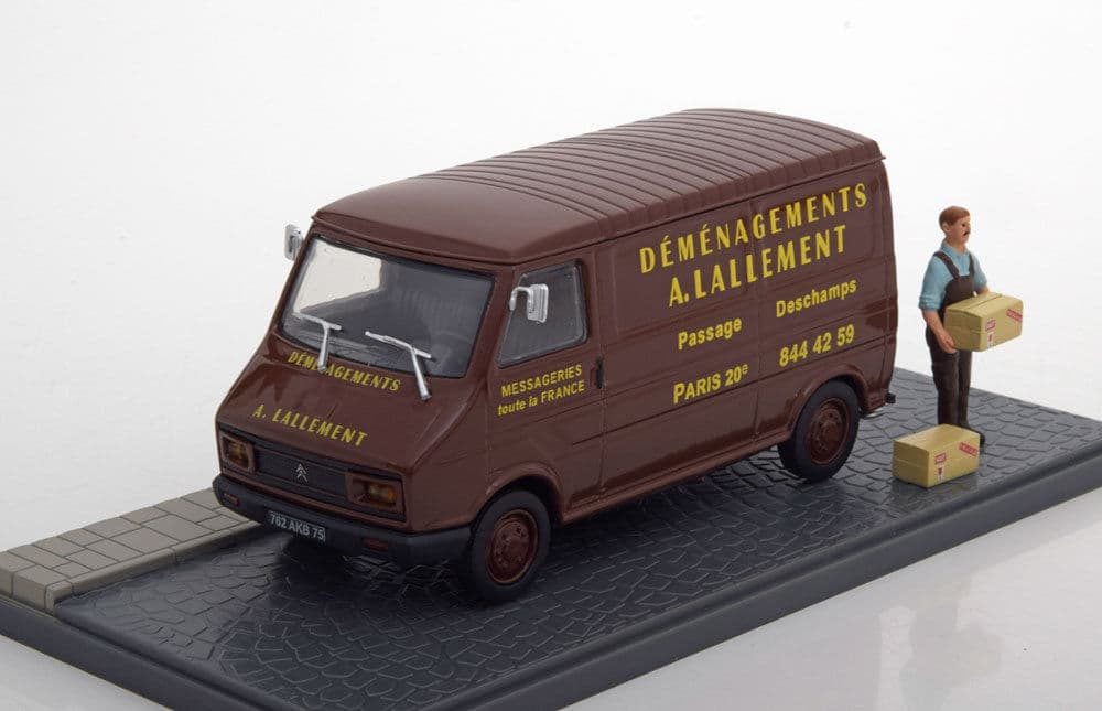 Diecast - Miniatur Citroen C35 moving companies brown by Atlas - Blanja.com