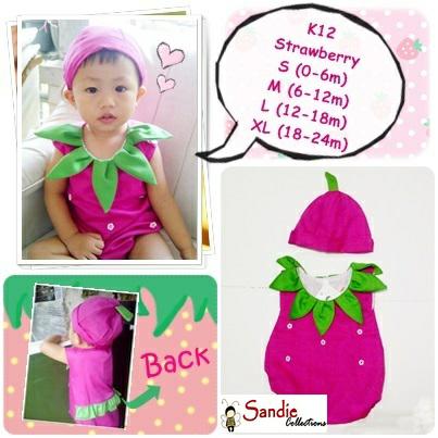 Baju Bayi Perempuan Strawberry Lucu Cantik - Blanja.com