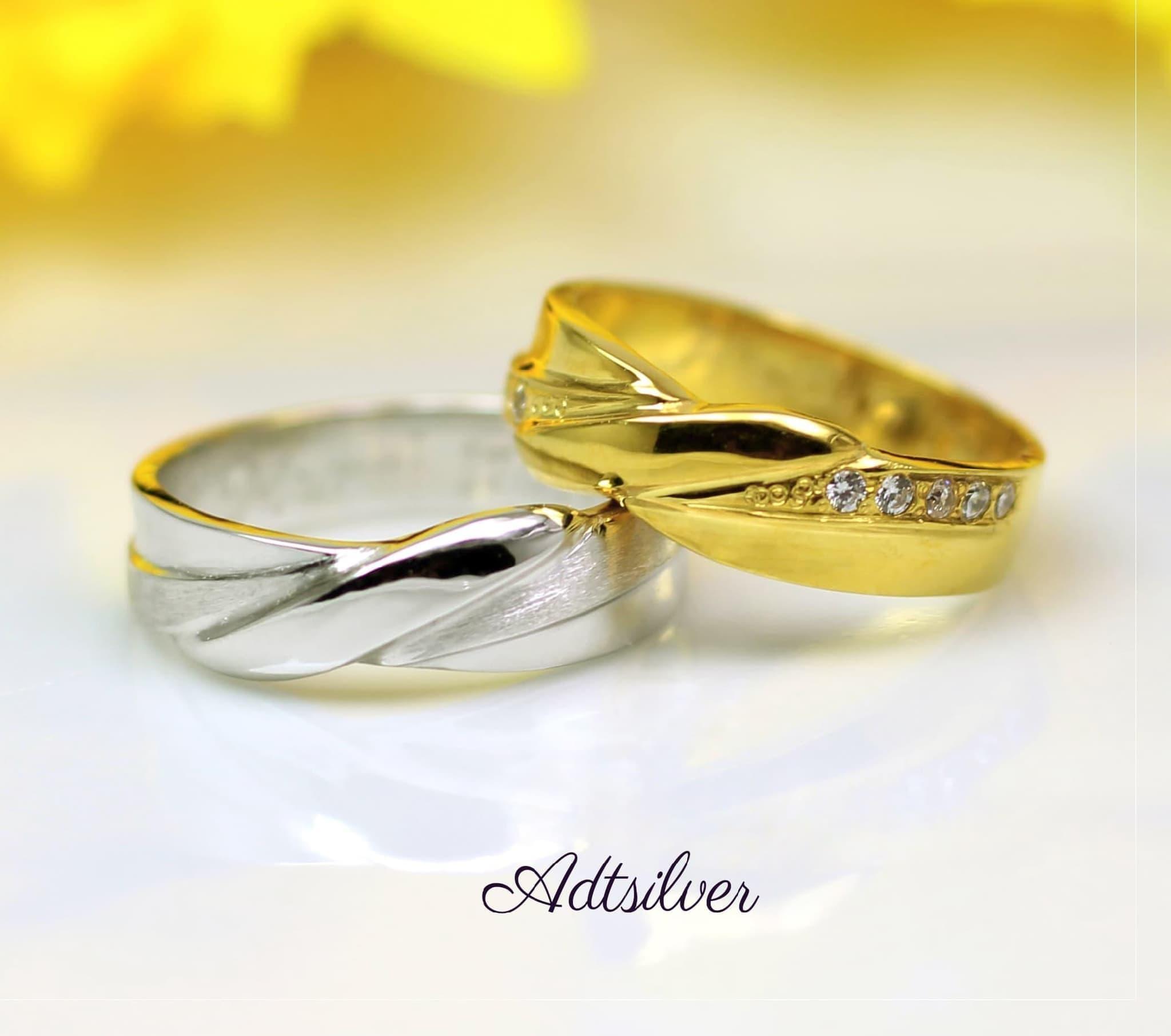 Jual Cincin Kawin Emas Dan Palladium Tunangan Nikah Couple 23 Pernikahan 023 Damitri Tokopedia