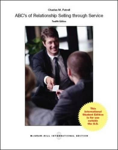 ABCs of Relationship Selling 12th Edition