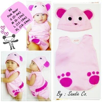 Baju Anak Bayi Lucu Kostum Bear Pink - Blanja.com