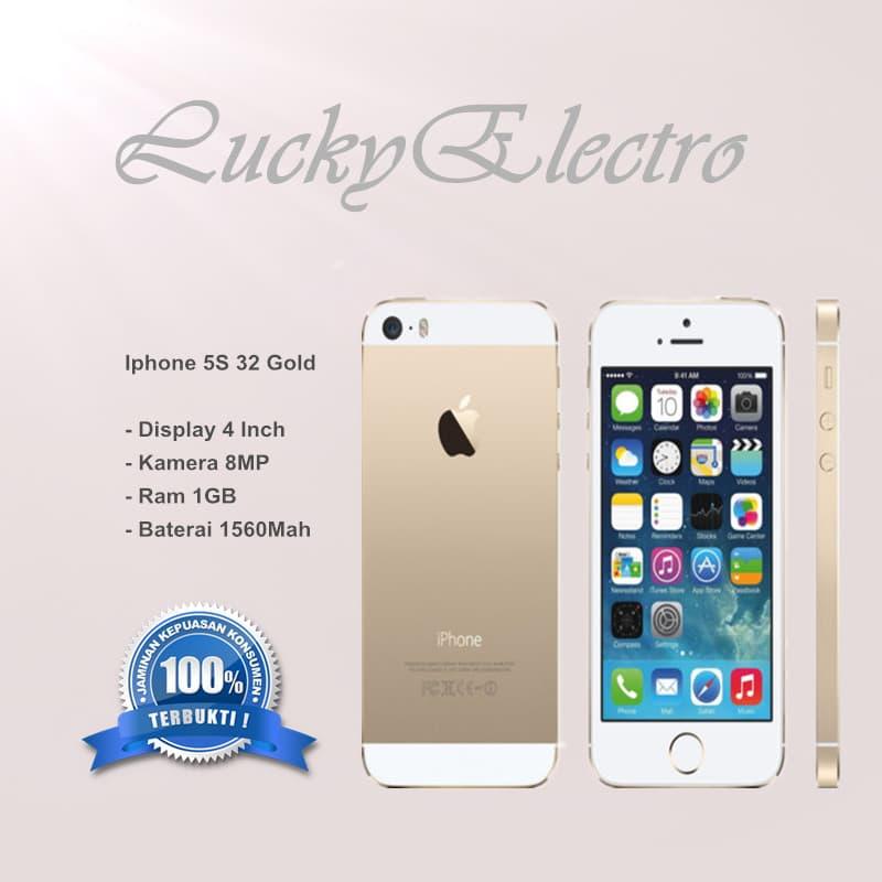 Iphone 5s 32gb Gold Garansi Toko