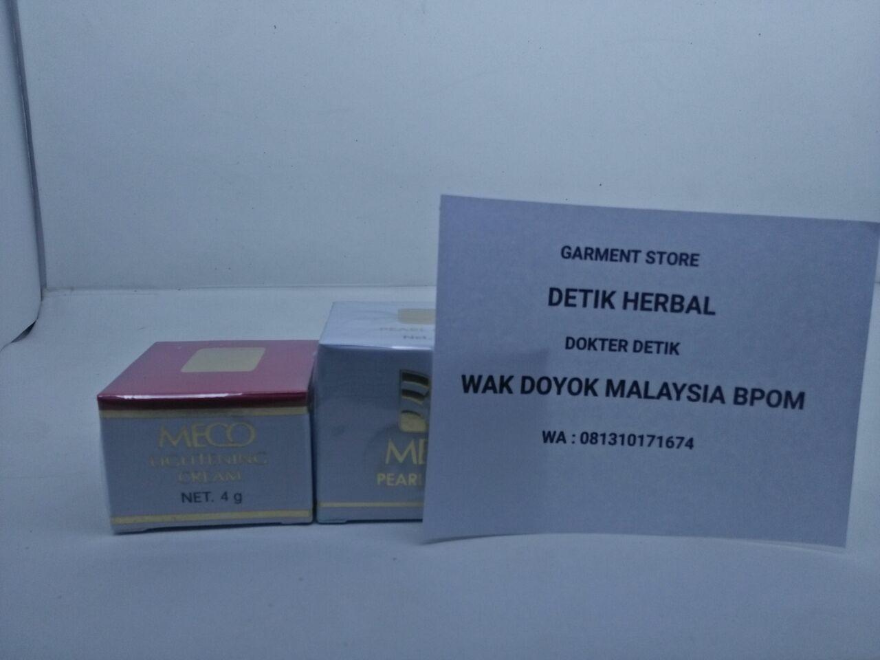 Jual Paket Cream Meco Siang Malam Wak Doyok Malaysia Bpom Krim Muka Lightening 4gr Tokopedia